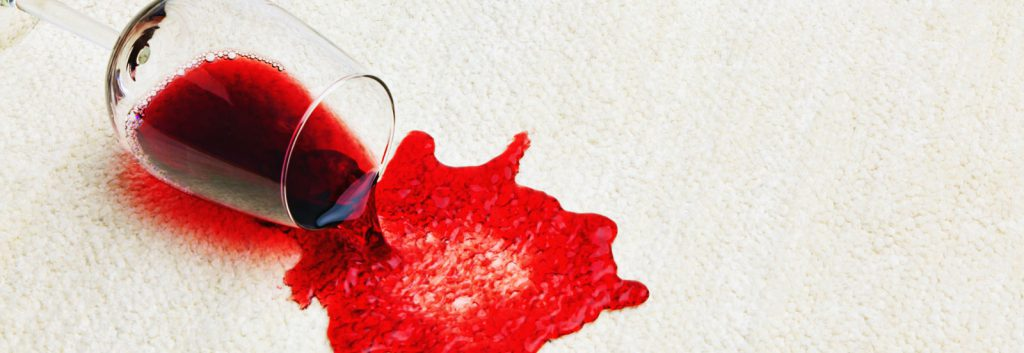Wine spill stain carpet cleaner
